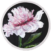 Peony Bloom Round Beach Towel by Betty-Anne McDonald