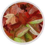 Peony Farewell Round Beach Towel by Betsy Zimmerli