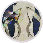 People Watching - A Gathering Round Beach Towel