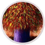 Peppered  Round Beach Towel
