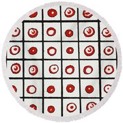 Peppermint And Licorice Round Beach Towel