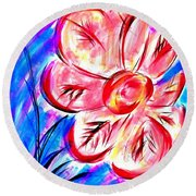 Peppermint Kiss Round Beach Towel