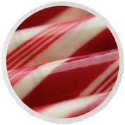 Peppermint Stripes Round Beach Towel