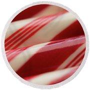 Peppermint Stripes Round Beach Towel