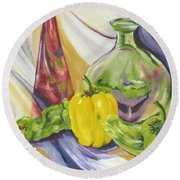 Peppers And Passion Round Beach Towel