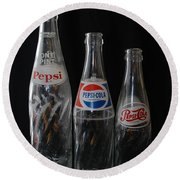 Pepsi Cola Bottles Round Beach Towel by Rob Hans