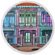 Peranakan Mansion Singapore Round Beach Towel