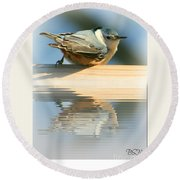 Perched Over Water Round Beach Towel