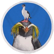 Percy The Penguin Round Beach Towel