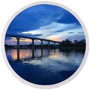 Perdido Key Bridge Round Beach Towel
