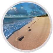 Perfect Emptiness Round Beach Towel