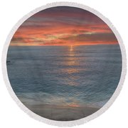 Perfect Ending Round Beach Towel