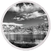 Round Beach Towel featuring the photograph Perfect Lake At Mount Baker by Jon Glaser