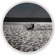 Round Beach Towel featuring the photograph Perfect Light At Lake Wollumboola by Miroslava Jurcik