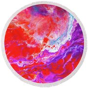 Perfect Love Storm - Colorful Abstract Painting Round Beach Towel
