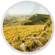 Picture Perfect Pastures Round Beach Towel