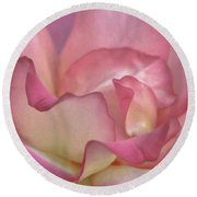 Pink Rose Petals Round Beach Towel by Joann Copeland-Paul