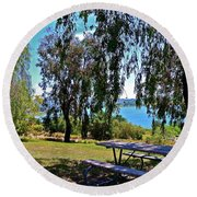 Perfect Picnic Place Round Beach Towel
