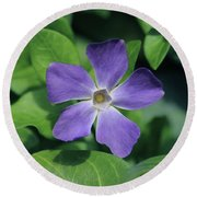 Perfect Purple Periwinkle Round Beach Towel
