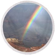 Perfect Rainbow Kisses The Grand Canyon Round Beach Towel