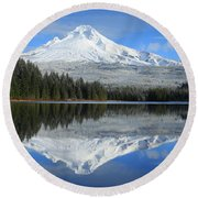 Perfect Reflection Round Beach Towel