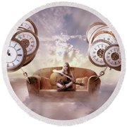 Round Beach Towel featuring the digital art Perfect Timing  by Nathan Wright