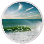 Perfect Wave Round Beach Towel by Carlos Caetano