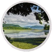 Perfectly Framed Round Beach Towel