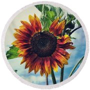 Perfectly Imperfect Round Beach Towel by Karen Stahlros