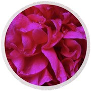 Perfectly Pink Peony Petals Round Beach Towel
