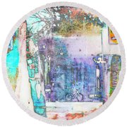 Round Beach Towel featuring the photograph Performance Arts by Susan Stone