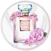 Perfume Florals Round Beach Towel
