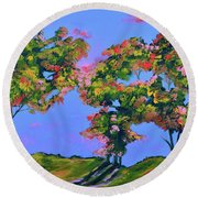 Periwinkle Twilight Round Beach Towel by Donna Blackhall