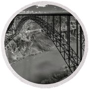 Perrine Bridge, Twin Falls, Idaho Round Beach Towel