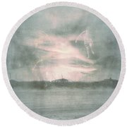 Ghosts And Shadows Vii - Personal Rapture  Round Beach Towel
