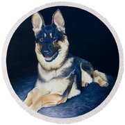 Pet Commission-shaka Round Beach Towel