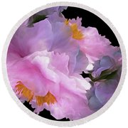 Petal Dimension 306  Round Beach Towel
