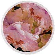 Petal Dimensions 42 Round Beach Towel by Lynda Lehmann