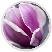Round Beach Towel featuring the photograph Petals by Edward Kreis