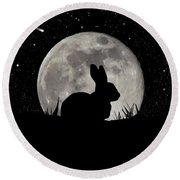 Peter Cottontail Round Beach Towel