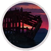 Peter Iredale Shipwreck Round Beach Towel