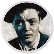 Peter Lorre Hollywood Actor Round Beach Towel by Mary Bassett