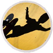 Peter Pan Skate Boarding Round Beach Towel