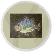 Peter The Perch Round Beach Towel