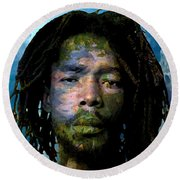 Peter Tosh Round Beach Towel