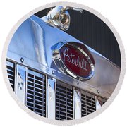 Peterbilt Angry Duck Round Beach Towel