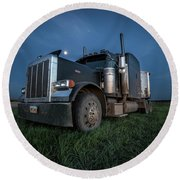 Peterbilt Moon Round Beach Towel
