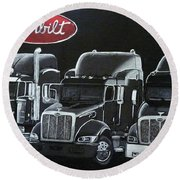 Peterbilt Trucks Round Beach Towel