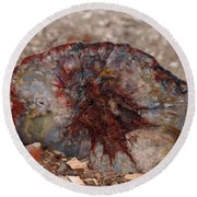 Round Beach Towel featuring the photograph Peterified Jewel by Melissa Peterson