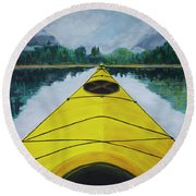 Petersburg Creek Round Beach Towel